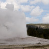 Old Faithful erupts - Yellowstone