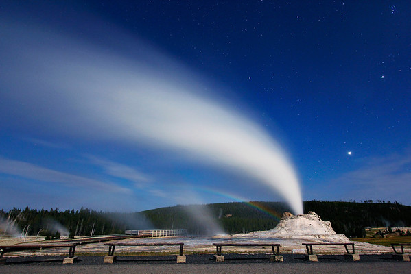 Castle Geyser Moonbow