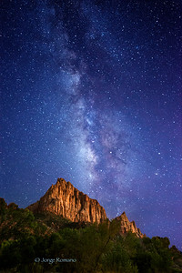 The Watchman with The Milky Way