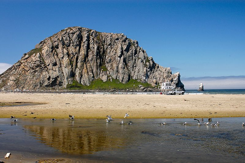 6/26/2005 -- Morro Rock and the beach at Morro Bay, CA.