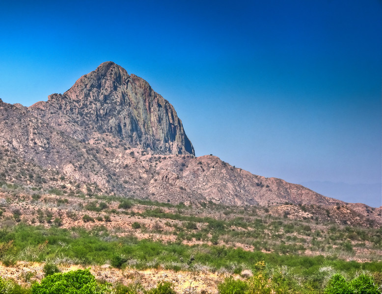Elephant Head Butte in the Santa Rita Mountains south of Tucson