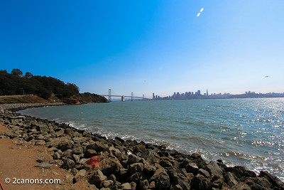 A view of San Francisco from Treasure Island, Ca.