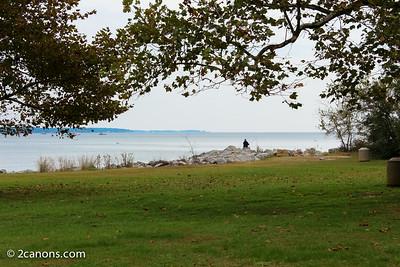 Fishing near Cornwallis Cove, Yorktown, Virginia.