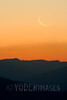 Crescent moon rising over the Smoky Mountains, from the Foothills Parkway, Great Smoky Mountains National Park