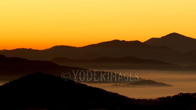Sunrise from Cove Creek Road, Cataloochee, NC