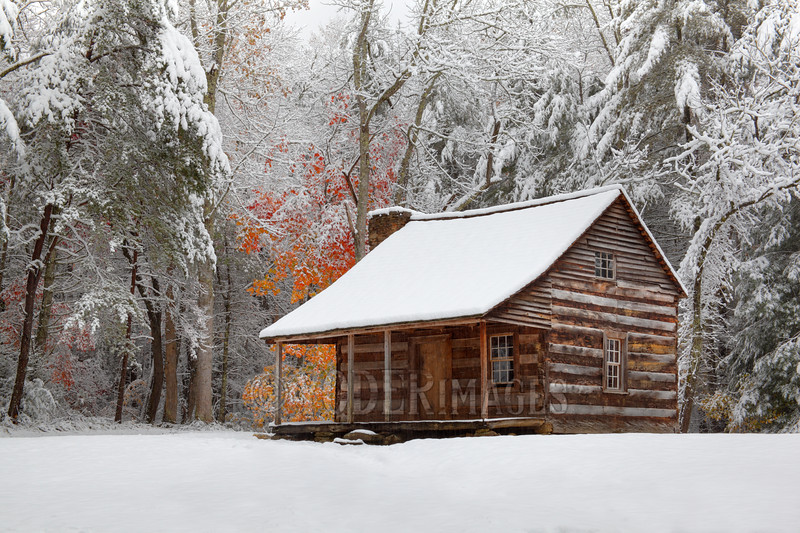 Carter-Shields Cabin, Cades Cove, Great Smoky Mountains National Park<br /> Featured in Great Smoky Mountains Association Calendar, December 2017