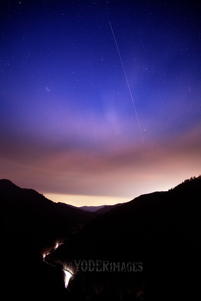 International Space Station orbiting over the Great Smoky Mountains National Park.  Viewed from Morton's Overlook, 4/5/2021.