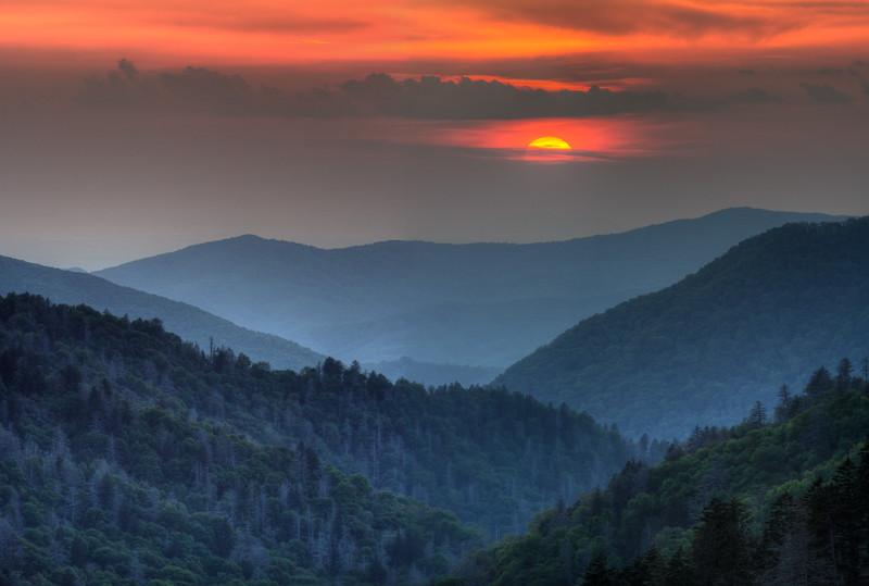 Sunset, Morton Overlook, Great Smoky Mountains National Park