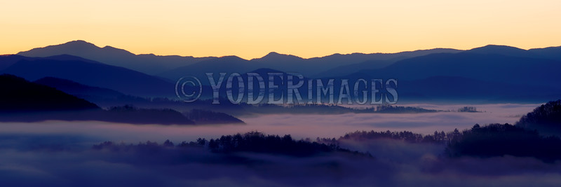Sunrise over the Smoky Mountains, from the Foothills Parkway, Great Smoky Mountains National Park