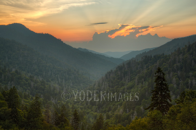 Storm approaching Morton's Overlook, Great Smoky Mountains National Park