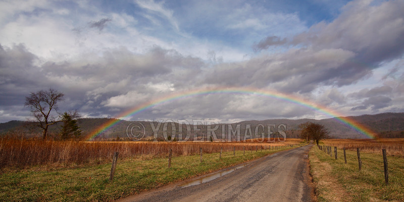 Rainbow over Hyatt Lane, Cades Cove, Great Smoky Mountains National Park