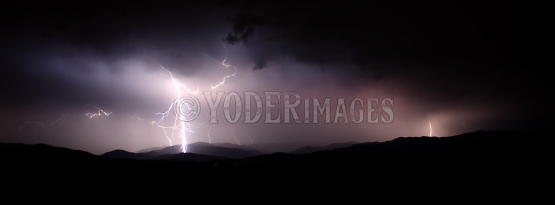 Lightning over the Smoky Mountains, from Foothills Parkway