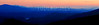 Sunset over the Smoky Mountains, from the Foothills Parkway, Great Smoky Mountains National Park
