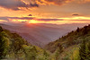 Sunrise from Oconaluftee Overlook, Great Smoky Mountains National Park
