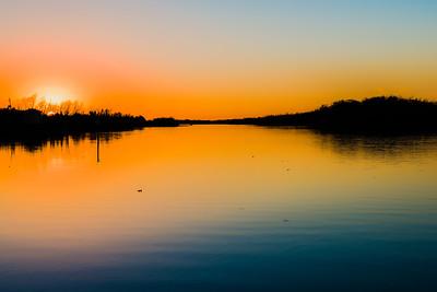 Sunset on Flat Lake in Louisiana - February 2017