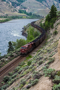 Train in Fraser Canyon, British Columbia - May 2015.
