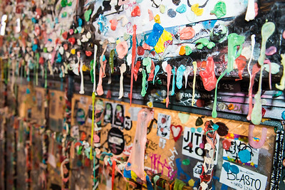 Gum Wall at Pike Place Market in Seattle, WA - May 2015.