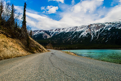 Mud Lake on the Cassiar Highway in British Columbia, Canada - May 2015.