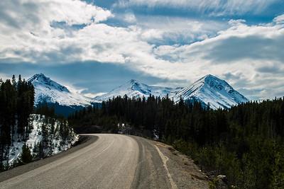 Cassiar Highway in British Columbia, Canada - May 2015.