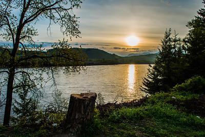 Sunrise in Kitwanga, British Columbia, Canada off the Cassiar Highway - May 2015.