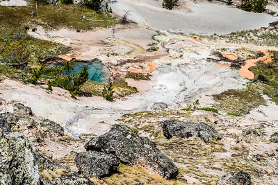 Artist Paintpots Trail in Yellowstone National Park - June 2017.