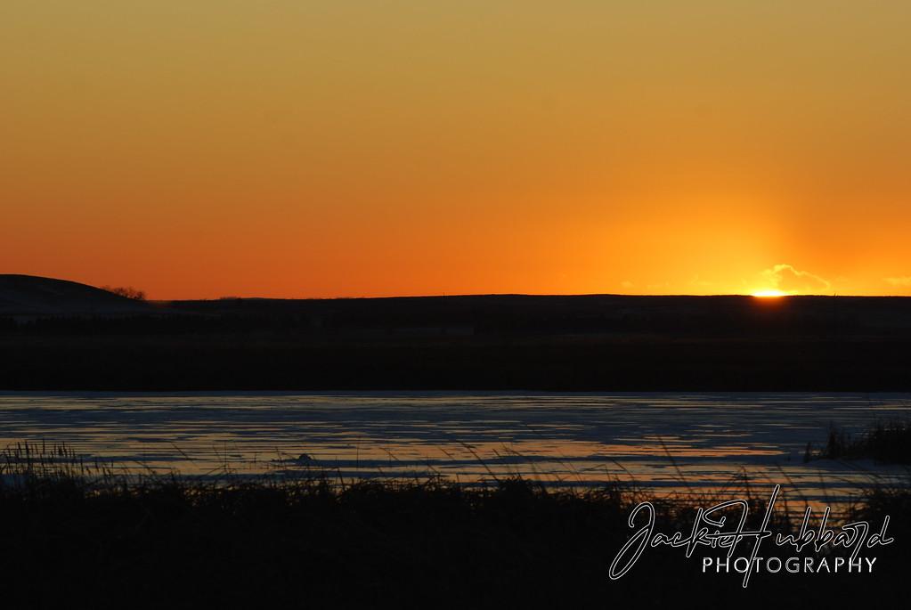 Sunset in North Dakota.