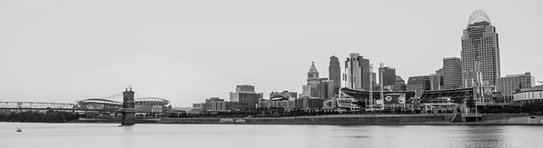 Cincinnati cityscape  - August 11, 2016.