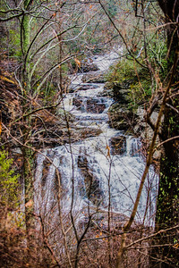 Cullasaja River Gorge  at Highlands, NC on December 18, 2016
