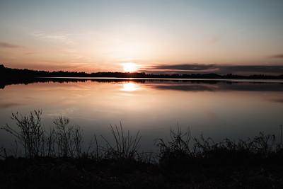 Sunset at Goose Pool Necedah NWR in April 2020.