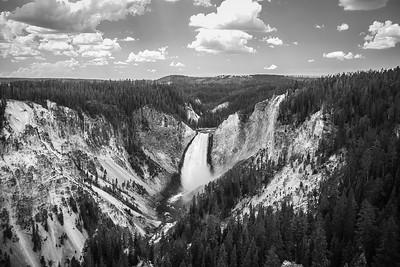 Upper Falls B&W