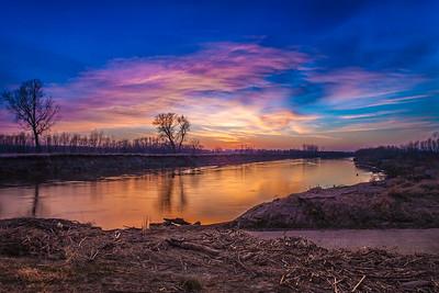 Slight HDR River Sunset