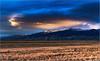 Sangre De Cristo range with sand dunes,  at sunset . . . [#7DII.2017.9088]