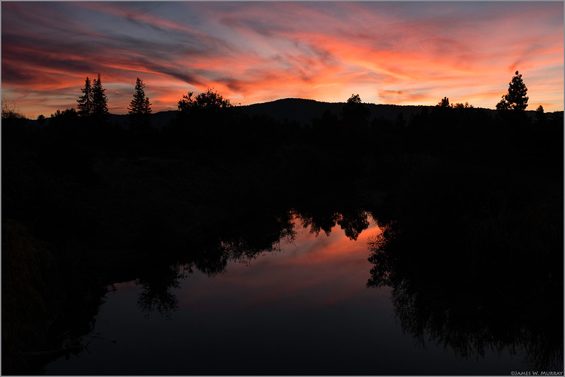 Los Gatos Creek Sunset, December 10, 2017 ...[DSF.2017.0175]