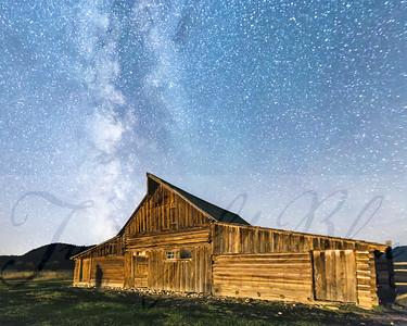 Milky Way over Mormon Row Barn