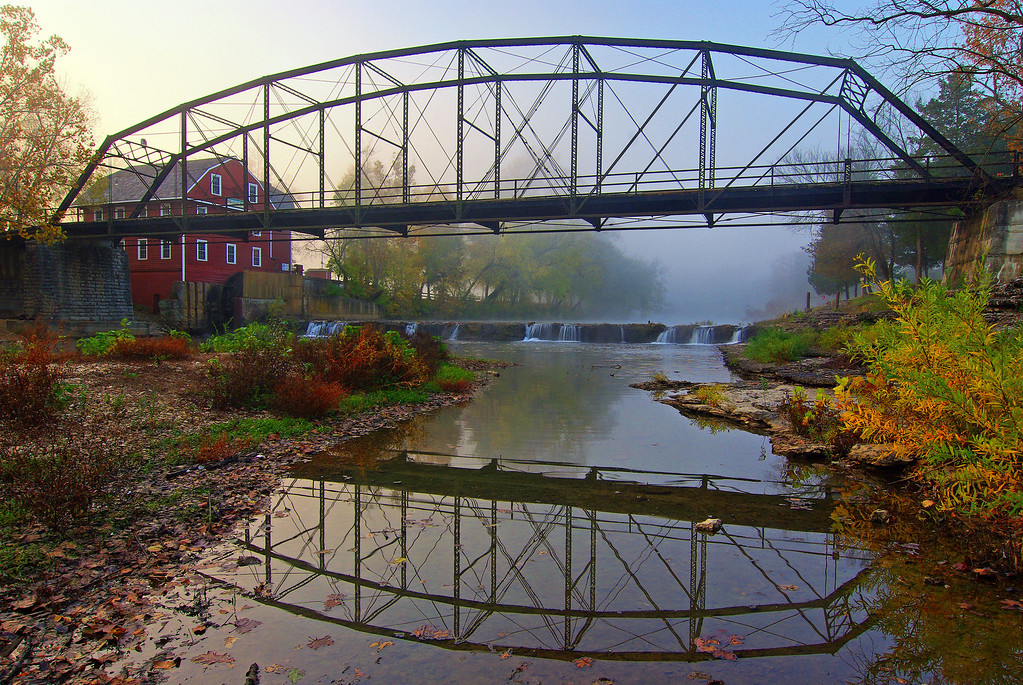 War Eagle Mill - Bridge & Falls