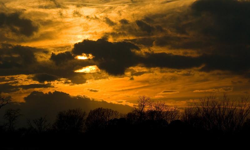 Sunset over Fayetteville
