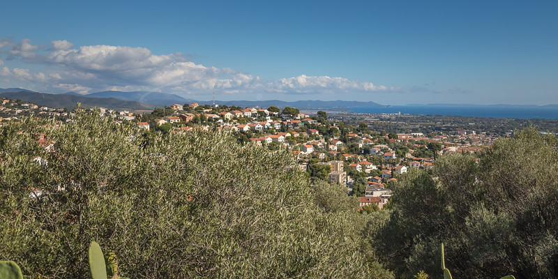 la vue sur la mer de la Villa Noailles