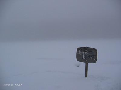 Ice fog over Blueberry Lake (Lac aux Bleuet) - Mont Tremblant, Canada
