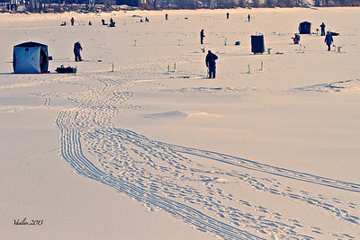 Ice Fishing on the St. Lawrence River (February 2013)