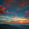 The sun rises with promise of a new day in the Appalachian Mountains near Black Balsam on the BLue Ridge Parkway in Western North Carolina.