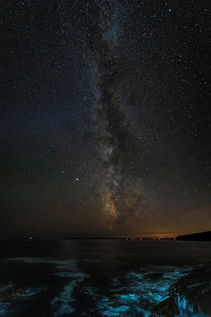 Milky Way Galaxy as seen from Otter Point -Acadia National Park, Maine