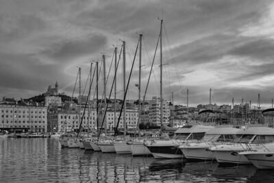 crépuscule au vieux port | dusk at the old port