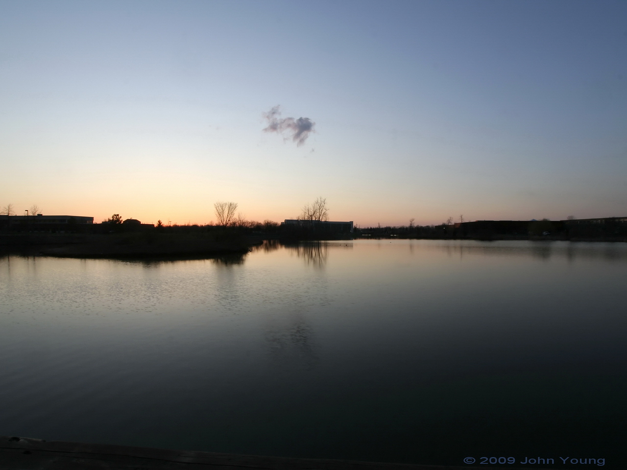Sunset at Canal Ponds - April 1, 2009