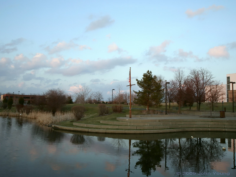 Sunset at Canal Ponds - April 1, 2009
