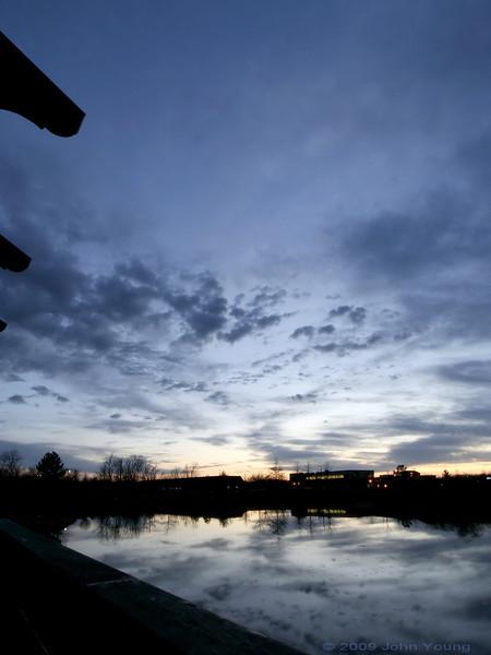 Sunset at Canal Ponds - April 2, 2009