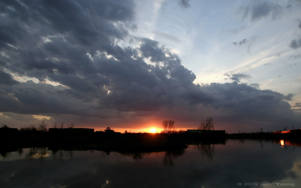 Sunset at Canal Ponds - April 24, 2009