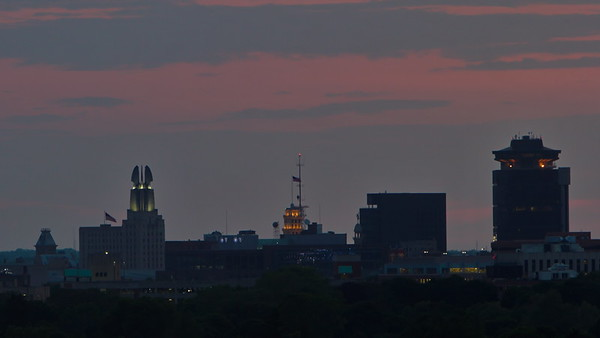 Sunset over Rochester