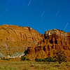 Star Trails over Chimney Rock, Capitol Reef National Park<br /> <br /> An 865 second (14min., 25sec.) exposure - a bright moon helped illuminate the landscape.