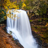 Dry Falls is located near Highlands, North Carolina and is a beautiful falls with great visitor access to the area.