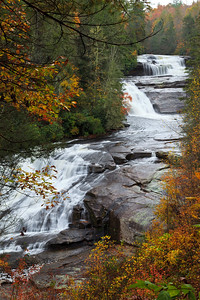 Triple Falls in the Dupont State Forest (Two upper falls and one lower fall on the Little River)